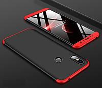 Чехол GKK 360 для Xiaomi Redmi S2 бампер оригинальный Black-Red