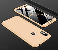 Чехол GKK 360 для Xiaomi Redmi S2 бампер оригинальный Gold