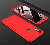 Чехол GKK 360 для Xiaomi Redmi S2 бампер оригинальный Red, фото 1