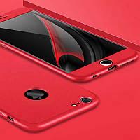 Чехол GKK 360 для Iphone 6 Plus / 6s Plus Бампер оригинальный с вырезом Red