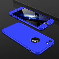 Чехол GKK 360 для Iphone 7 / Iphone 8 Бампер оригинальный с вырезом Blue