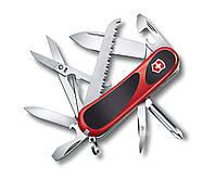 """Нож раскладной Victorinox Delemont """"EvoGrip 18"""" Швейцарский нож на 15 функций черно-красного цвета"""