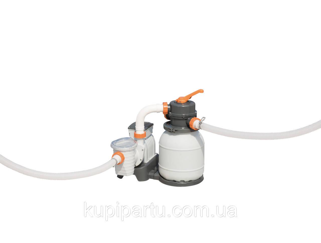 58495 BW Песочный фильтр-насос 3785 л/ч , резервуар для песка 9 кг