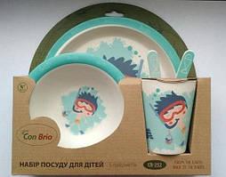Набор посуды Con Brio CB-252 Для Детей Ныряльщик (5 предметов)