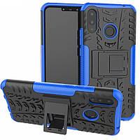 Чехол Armor для Huawei P Smart Plus / Nova 3i / INE-LX1 противоударный Бампер синий