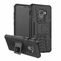 Чехол Armor для Samsung A8 Plus 2018 / A730F противоударный бампер черный