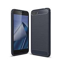 Чехол Carbon для Asus ZenFone 4 Max / ZC520KL / x00hd / 4a011ww бампер Синий