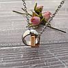 """Кулон """"love life"""" из стали с позолотой с цепочкой 44 см, фото 3"""