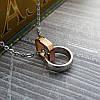 """Кулон """"love life"""" из стали с позолотой с цепочкой 44 см, фото 2"""
