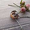 """Кулон """"love life"""" из стали с позолотой с цепочкой 44 см, фото 4"""