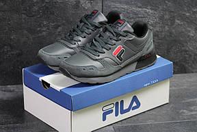 Модные мужские кожаные кроссовки Fila,серые, фото 2