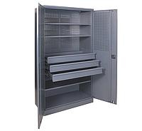 Шкаф инструментальный ШИ-10/3П/3В (1970х1000х500 мм), металлический шкаф для инструментов