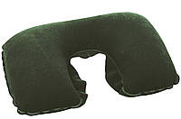 67006 BW Надувная подушка под шею Flocked Travel Pillow 46х28 см