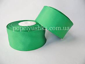Стрічка репсова 4 см зелена