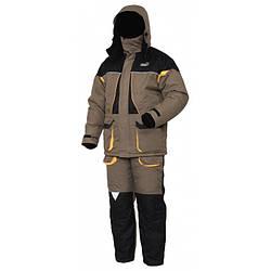 Зимний костюм мужской Norfin Arctic для рыбалки и охоты черно коричневого цвета