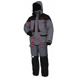 Зимний костюм мужской Norfin Arctic Red для рыбалки и охоты черно серого цвета