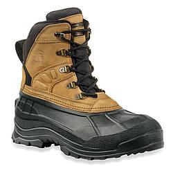 Ботинки зимние Fargo (-32°) для рыбалки и охоты черно коричневого цвета