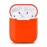 Силиконовый чехол C-KU для наушников AirPods Orange