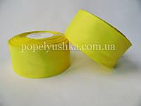 Стрічка репсова 4 см жовта