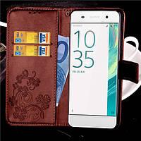 Чехол Clover для Sony Xperia XA / F3112 / F3111 / F3115 / F3116 / F3113 книжка кожа PU коричневый