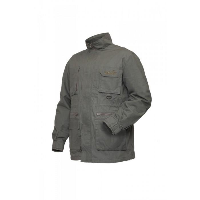 Куртка мужская Norfin Nature Pro для рыбалки и охоты серого цвета