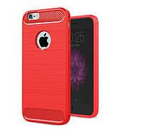 Чехол Carbon для Iphone 6 Plus / 6s Plus Бампер оригинальный Red