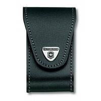 Чехол Victorinox поясной кожаный черного цвета / чехлы для ножей