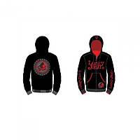 Куртка флисовая Lucky John  XXL для рыбалки и охоты черного цвета