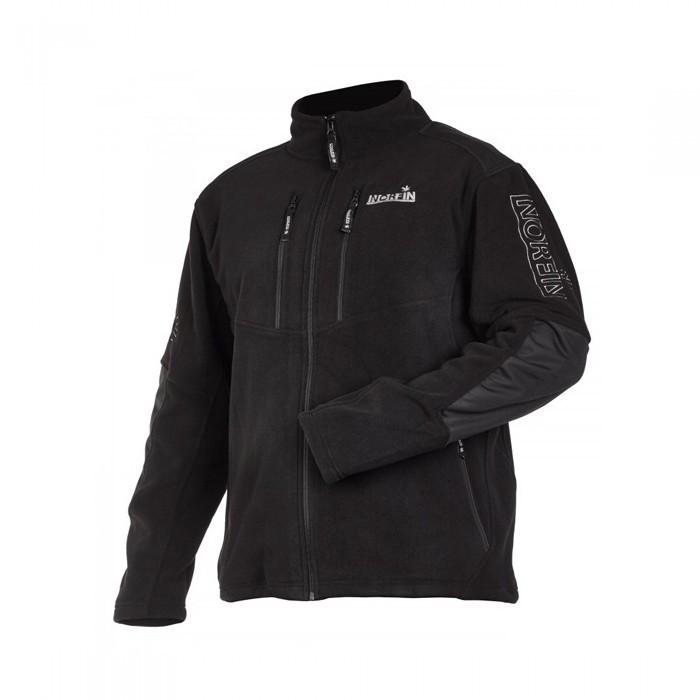 Куртка флисовая мужская Norfin Glacier для рыбалки и охоты черного цвета