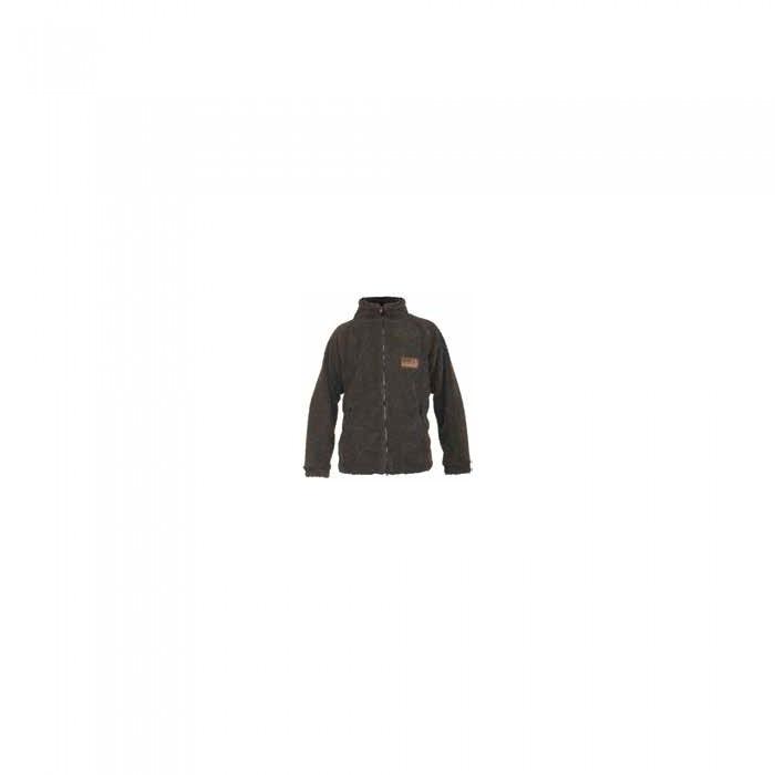 Куртка флисовая мужская Norfin Hunting Bear для рыбалки и охоты коричневого цвета
