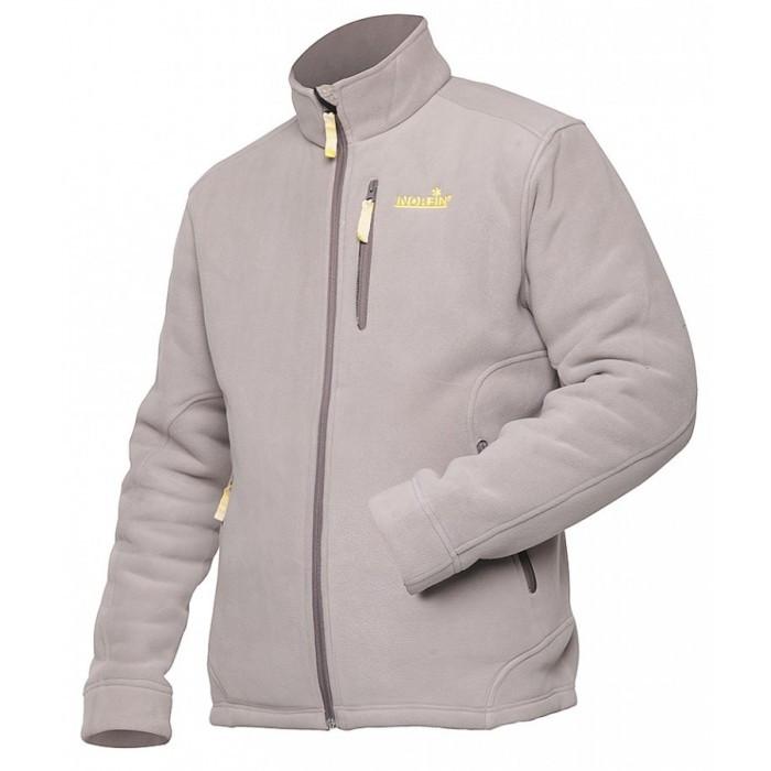 Куртка мужская флисовая Norfin North серого цвета