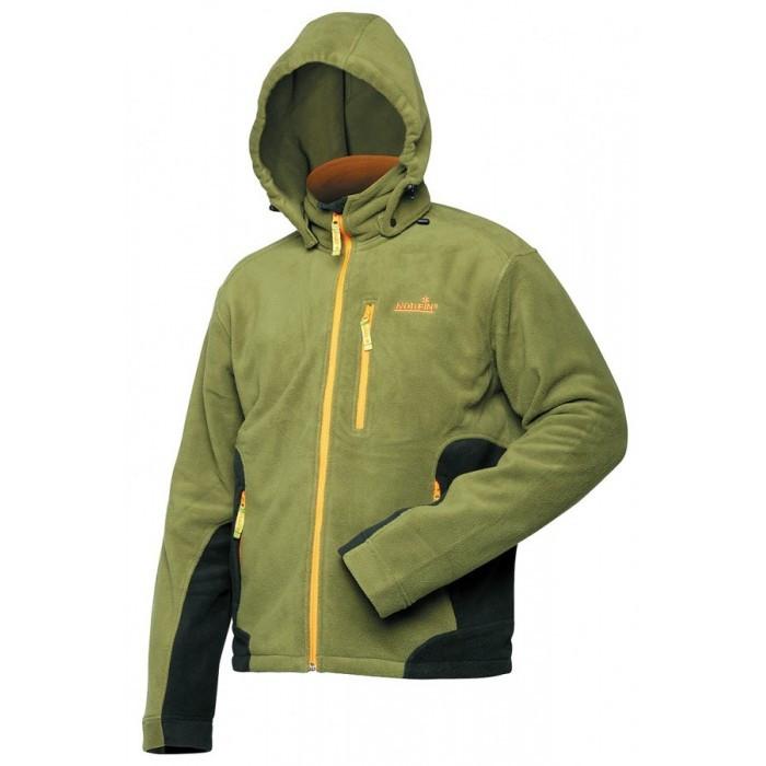 Куртка мужская флисовая Norfin Outdoor зеленого цвета
