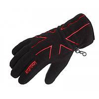 Перчатки флисовые Norfin Women Black черного цвета