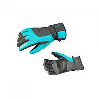Перчатки зимние женские Norfin Women WINDSTOPPER DEEP BLUE серо голубого цвета