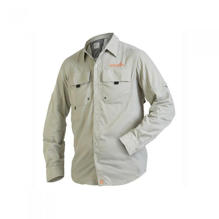 Рубашка летняя Norfin FOCUS Gray серого цвета