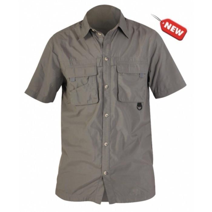Рубашка летняя с коротким рукавом Norfin Cool серого цвета
