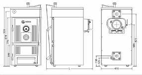Чугунный котел длительного горения Roda Brenner Classic BC-08 41 кВт (Рёда), фото 3