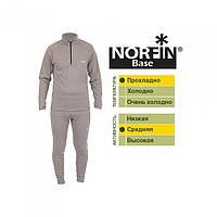 Термобелье мужское Norfin Base серого цвета