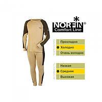 Термобелье мужское Norfin Comfort Line коричневого цвета