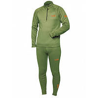 Термобелье мужское Norfin Hunting Base зеленого цвета