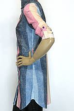 Пляжна  туніка - сорочка в полоску , фото 2