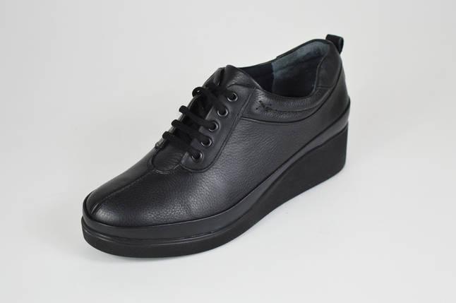 Туфли женские черные на танкетке Ripka 019, фото 2
