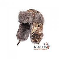 Шапка-ушанка Norfin Hunting (Passion) для зимней рыбалки цвета камуфляж