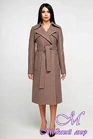 Классическое демисезонное пальто женское (р. 44-54) арт. 1178 Тон 6