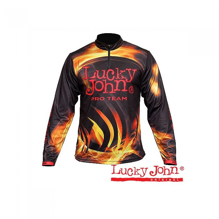 Реглан Lucky John Pro Team XXXL черного цвета