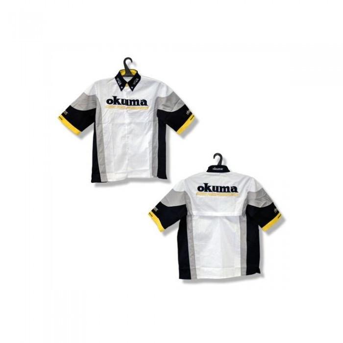 Рубашка с коротким рукавом Okuma S черно белого цвета