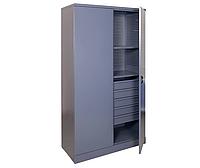 Шкаф инструментальный ШИ-10/2П/5В (1970х1000х500 мм), металлический шкаф для инструментов