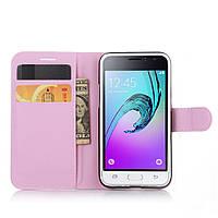 Чехол IETP для Samsung Galaxy J1 2016 J120 J120H книжка кожа PU розовый