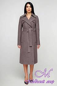 Демисезонное классическое пальто женское (р. 44-54) арт. 1178 Тон 3
