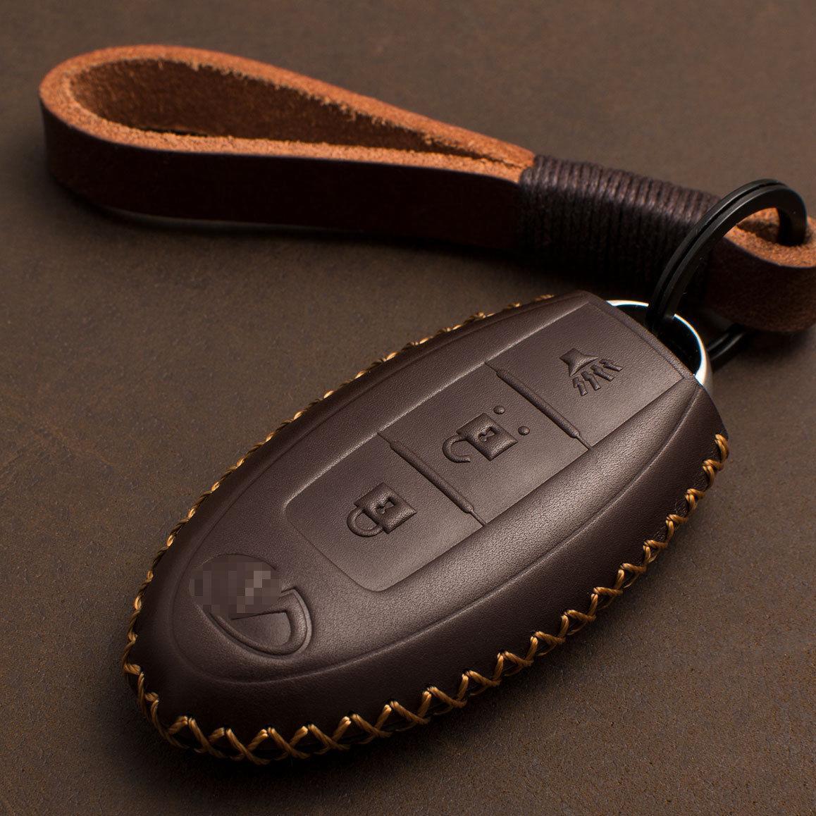 Кожаный чехол для ключа Infiniti Q30/50/60/70,QX30/50/60/70/80 EX FX 35/37/45